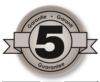 3 year manufacturer's guarantee