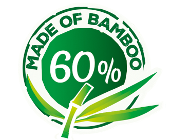 With 60% bamboo