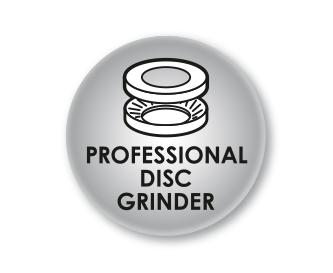 Profesionālas dzirnaviņas ar izņemamu malšanas disku