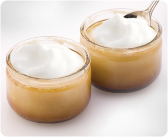 Cappuccino Pudding mit Zimt Milchschaum